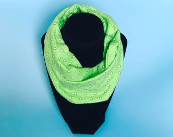 Green Baby Infinity Scarf - Green Toddler Infinity Scarf - Green Scarves - Scarves for girls- Scarves for boys - Infinity scarves