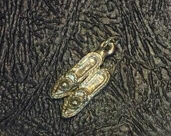 Vintage pair of shoes charm pendant