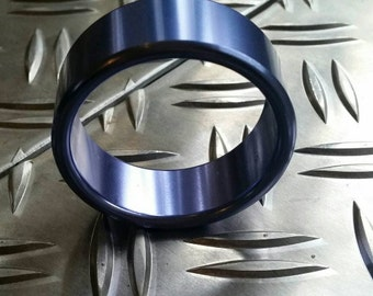 Cockring aluminium blue 45mm