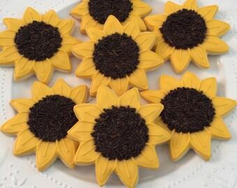 Sunflower Cookie Set (1 Dozen)