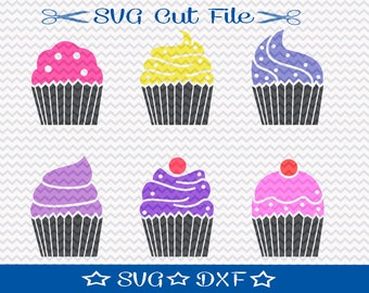 Cupcake SVG File / SVG Cut File for Silhouette / Cup Cake SVG / Dessert svg / Happy Birthday svg