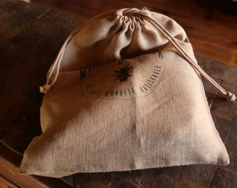 Bag burlap canvas l rustic bread / industrial