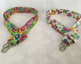 Fashion Lanyard, ID Holder, Badge Holder, Cute Lanyard, Floral Lanyard, Key Lanyard, Teacher Lanyard, Cute Lanyard, Fabric Lanyard,