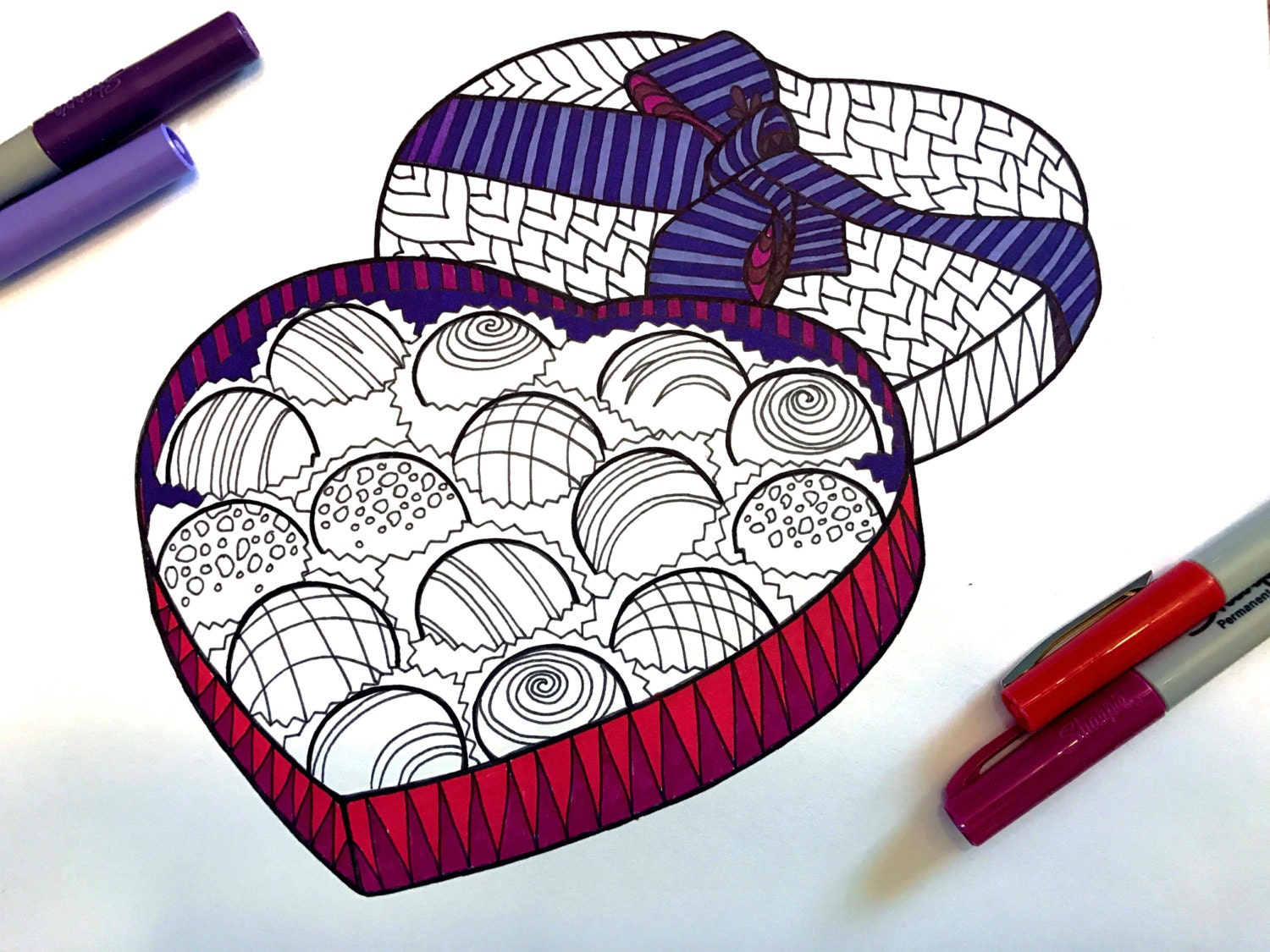 box of chocolates coloring pages - photo#26