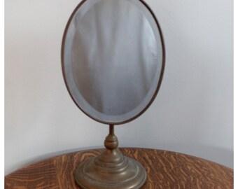 M4200 Antique Nickel Barber Shop Mirror