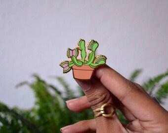 Venus Flytrap Enamel Plant Pin
