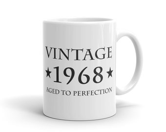 49th Birthday Gift Vintage 1968 Mug Gift for 49th Birthday 49 Years Old Mug Turning 49 Mug Funny Mug Gift idea #1032