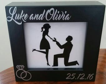Adorable Personalised Engagement Framed vinyl image