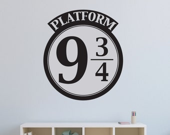 Harry Potter Wall Decal - Platform 9 3/4 - Wall Graphic - Vinyl Wall Art Stickers