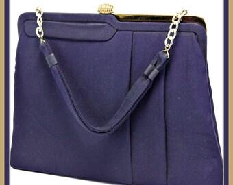 Vintage Garay Handbag,Vintage Handbag,Vintage Garay Purse,Vintage Purse,Vintage Garay Pocketbook,Vintage Pocketbook,Vintage Navy Purse,Purse