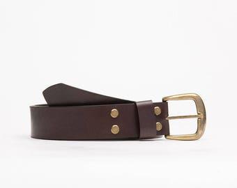 Handcrafted leather belt // Oregon