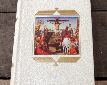 The Life of Christ Library of Catholic Devotion Hardcover Mid Century Religious Book