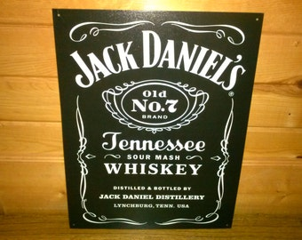 Vintage Tin sign Jack Daniels Label! 12.5'' x 16''  Great gift for the man cave