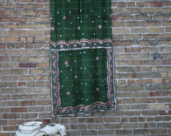 Green Sea Monster Bohemian Curtain