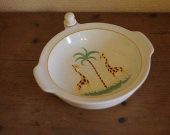 Children's hot plate / vintage / retro / warm plate / baby plate / hot water plate