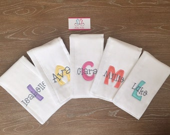 Monogrammed Burp Cloth  for Baby girls & Boys /  Personalized baby Gift / Can we done on Any of our products