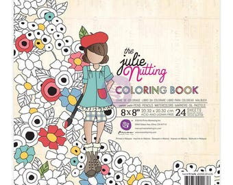 "Prima Marketing The Julie Nutting 8"" x 8"" Coloring Book"