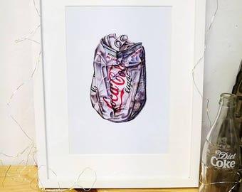 Coca Cola Light. Print. 29,5x21cm.