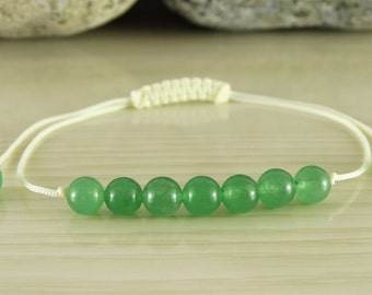 Jade bracelet energy bracelet protective bracelet green bracelet miniature bracelet adjustable bracelet beaded bracelet jade yoga jewelry