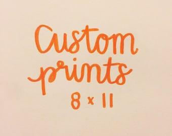 Custom Calligraphy Prints