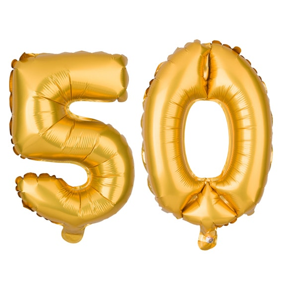 50 Number Balloons 50th Birthday Party Balloons 50 Balloon