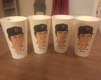 Vintage 1970s MLB 7-11 Cups - Boston Red Sox