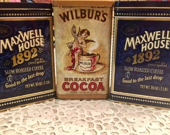 Three Advertising Tins/ Coffee & Cocos
