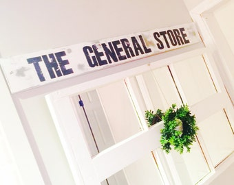"Heavily Distressed ""The General Store"" Wood Sign, Farmhouse Decor"