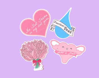 Grow a Pair Feminist Stickers | Cute Stickers | Tumblr Stickers | Planner Stickers | Glossy Stickers