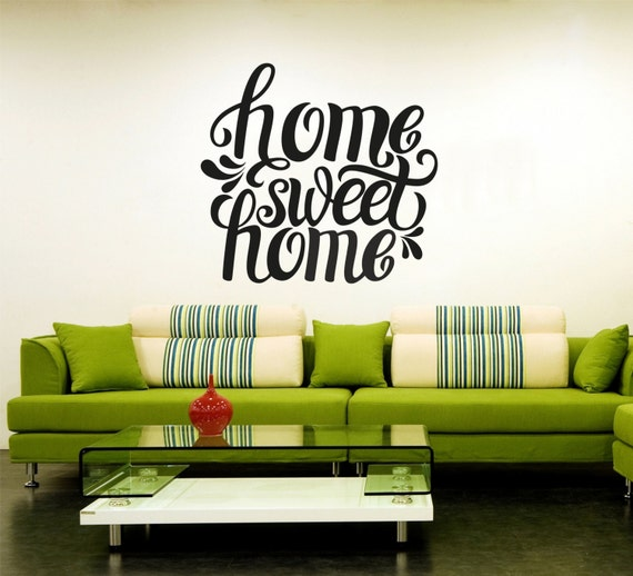 Home sweet home decal wall decor graphic design decor by