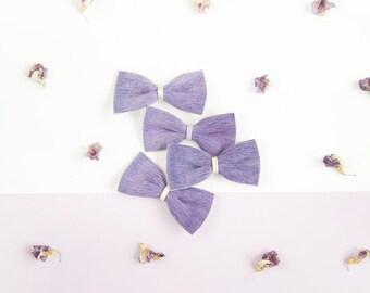 Leather Hair Bow, Crocodile Clip or Nylon Head band, Purple Real Hair/Fur Bow, Baby Bow, Adult Bow, Little Girl Bow, Leather Bow, Baby Bow