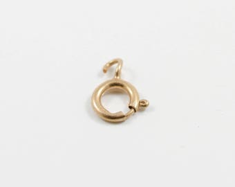 5mm 14K Solid Gold Spring Ring Clasp