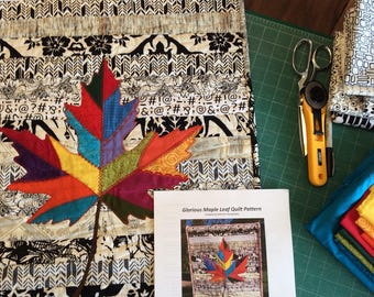 Glorious Maple Leaf Quilt Pattern