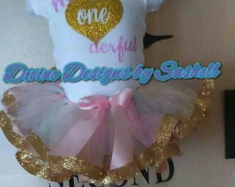 Alice in Wonderful Land Inspired Tutu Set, Tutu Set, Birthday Set, 1st Birthday