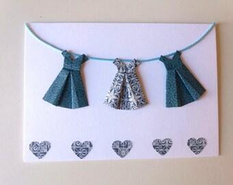Origami dresses card