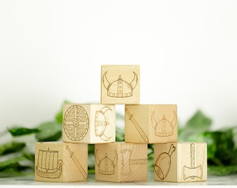 Wooden Blocks Viking Theme