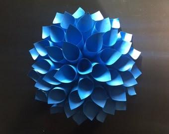 Blue Paper Dahlia