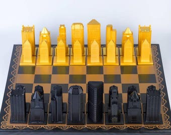 Steel City Chess set (Board included)