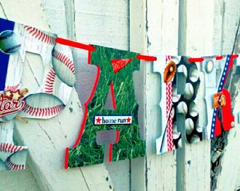 Customizable Name Banner, Baby Shower Banner, Baseball Banner, Sports Kids Room Decor, Personalized.