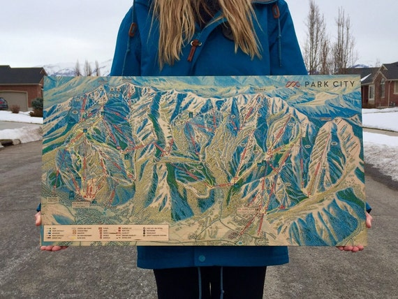 Park City/Vail Resort Maple Wood Print