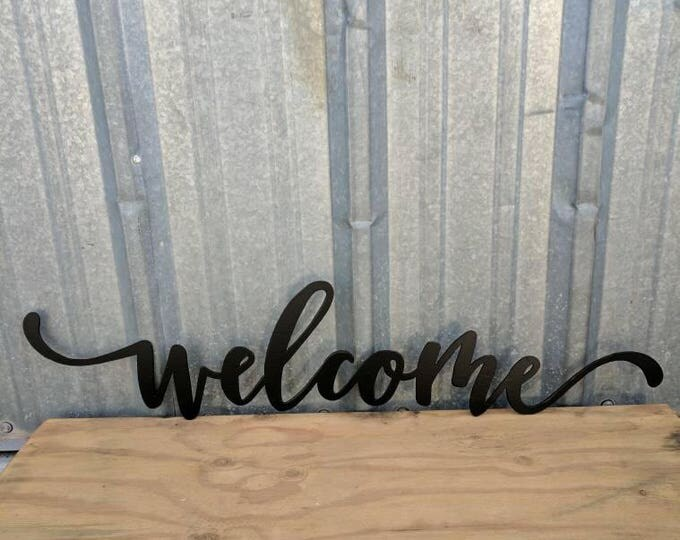 Metal Welcome Wall Decor