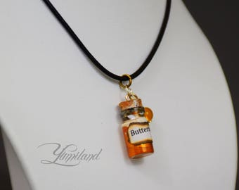 Handmade butterbeer potion necklace - harry potter, harry potter necklace, harry potter potion, harry potter jewellery, potter jewelery