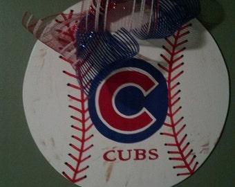 Cubs Baseball Door Hanger