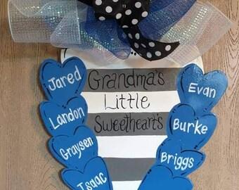 Grandma's Little Sweethearts Door Hanger