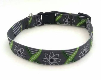 Dog Collar, Maths Geek, Einstein, Black Dog Collar, Personalized Collar, Handmade Dog Collar, Fabric Dog Collar, Bow Tie Collar, Dog Bow Tie