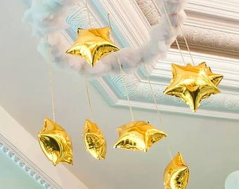"Gold Star Balloons | 18"" Gold Star Balloons 