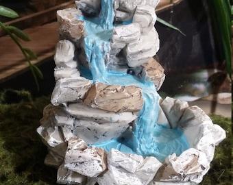 Fairy Garden Miniature Rock Waterfall Fountain (Resin) for your Fairy Garden, Miniature Landscape Detail, Fairy Garden Accessories, Water