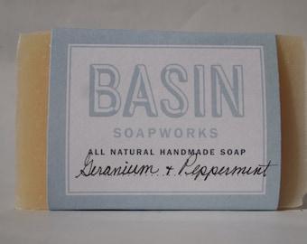 Geranium Peppermint Handmade Soap