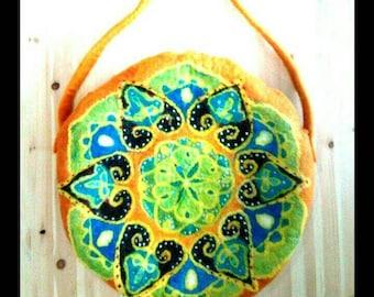 Mandala mystic felted bag