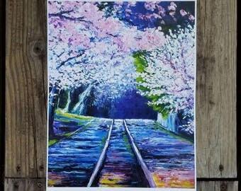 Sakura Cherry Blossoms Art Print